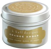 K Hall Designs Candle Tin, Washed Cotton
