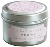 K Hall Designs Candle Tin, Peony