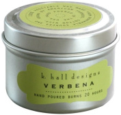 k hall designs Candle Tin, Verbena