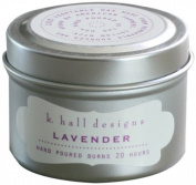 K Hall Designs Candle Tin, Lavender