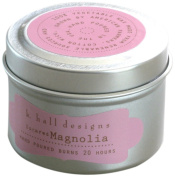 K Hall Designs Candle Tin, Sugared Magnolia