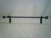 Wrought Iron Towel Bar Scroll Ends Large Amish Made