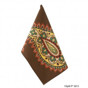Split P Designs Kitchen Dish Towel, Moroccan Paisley Print