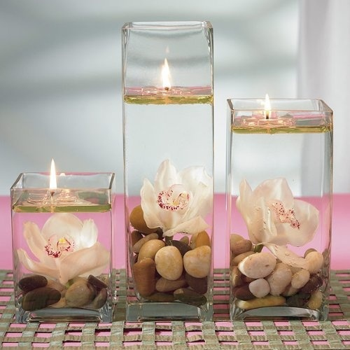 water candles romantic floating water candles invisible floating rh fishpond com
