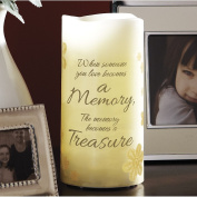 15cm Flameless Vanilla Scented Memory Pillar Candle With Flickering Led Light