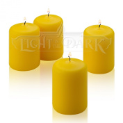 4 Yellow Citronella Scented Pillar Candle 7.6cm Tall X 5.1cm Wide