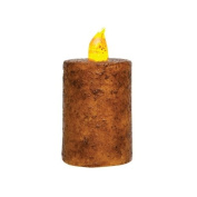 Burnt Mustard 5.1cm x 7.6cm Pillar Candle with Timer