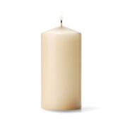 Unscented Pillar Candle Colour