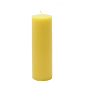 Zest Candle Pillar Candle, 5.1cm by 15cm , Yellow
