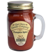 380ml PUMPKIN SPICE Scented Jar Candle (Our Own Candle Company Brand) Made in USA - 100 hr burn time