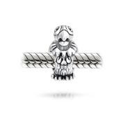Bling Jewellery 925 Sterling Silver Bird Parrot Bead Animal Charm Fits Pandora