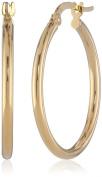 14k Yellow Gold Italian Hoop Earrings