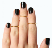 14k Gold Filled 1mm Plain Band Adjustable Midi Above the Knuckle Ring