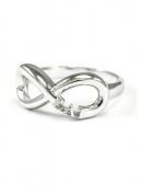 Sigma Lambda Gamma Sterling Silver Infinity Ring