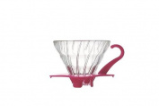 Hario VDG-01PC V60 01 Glass Coffee Dripper, Pink