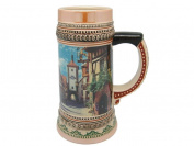 Ceramic Beer Stein German Rothenberg Village Scene