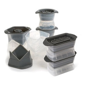 Tovolo Ice Moulds Combo, Set of Two (2) Colossal Cubes, Set of Two (2) Highball Moulds, and Set of Two (2) Sphere Moulds