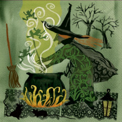 Ideal Home Range 20 Count Decorative Paper Napkins, Cocktail, Witch