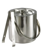 Elegance Lines 15cm Stainless Steel Ice Bucket With Tongs