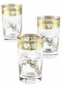 Moroccan Tea Glasses, Fez Gold