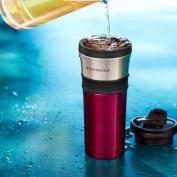 Starbucks Stainless Steel Two-tone Tumbler - Purple/grey, 470ml