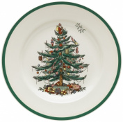 Spode Christmas Tree 27cm Dinner Plates, Set of 4
