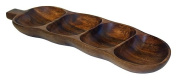 Mountain Woods 4 Compartment Acacia Tamarind Snack Tray