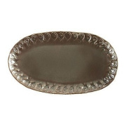 Vietri Incanto Metallic Curl Small Oval Platter