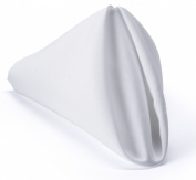 Set of 48 Bulk Cloth Napkins, Choose from Black, Ivory, or White; 43cm Square, Made from Durable Polyester