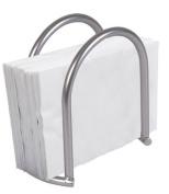Home Basics Napkin Holder, Satin Nickel Simplicity Collection