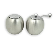 Stainless Steel Salt Shaker and Pepper Mill by Brilliant