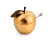 Michael Aram Apple Honey Pot Gold Plate with Honey