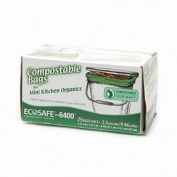 EcoSafe GKL032195-1 9.5l Compostable EcoBio Bags, 25-Count