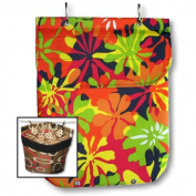 Waterproof XL Heavy-Duty Clothespin Holder Bag Made in USA Hibiscus Orange