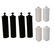 4 Black Berkey Replacement filters & 4 PF-2 Fluoride filters