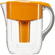 Brita Grand Water Philtre Pitcher, Orange, 10 Cup