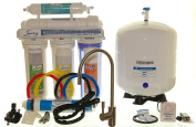 iSpring 75GPD 5-Stage Reverse Osmosis Water filter System with Brushed Nickel Faucet, Model RCC7