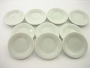 10 x25 mm White Round Plates Ceramic Kitchen Ware Dollhouse Miniature 10851