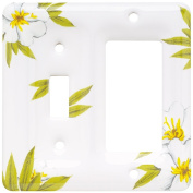 Brainerd 64515 Ceramic Single Switch/Decorator Wall Plate / Switch Plate / Cover, Magnolia