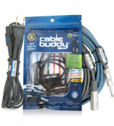 Cable Buddy® 5-pack, Black - Cable Organiser Ties with Colour ID Labels