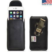 Turtleback Vertical iPhone 6 Plus (5.5) Genuine Leather Holster Case Pouch with Heavy Duty Rotating Metal Belt Clip - Magnetic Flap Closure - Made in USA