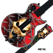 Protective Skin Decal Cover Sticker for GUITAR HERO 3 III PS3 Xbox 360 Les Paul - Pure Evil