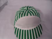 Baby Baseball Cap, Green & White Stripe baseball cap, size 50cm 12-18 mths