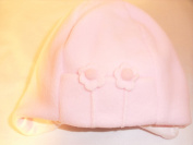 Baby Girl Flower Fleece Hat Colour Pink Size 12mths