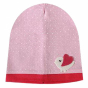 Demarkt Girls/Boys Beanie Winter Hat Polka Dots Little Chick Print Baby Pink Slouch Crochet Cap
