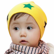 Demarkt Girl/Boy Beanie Winter Hat Stars Baby Slouch Crochet Cap Yellow