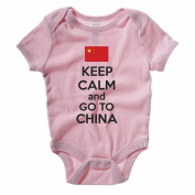 KEEP CALM AND GO TO CHINA - East Asia Themed Baby Grow / Suit