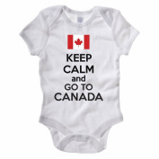 KEEP CALM AND GO TO CANADA - Canadian Themed Baby Grow / Suit