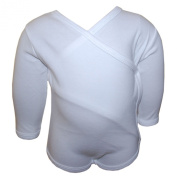 FIXONI - wrapping baby-body for boys and girls, white