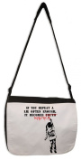 Banksy If You Repeat A Lie Messenger Bag